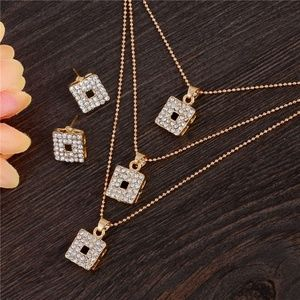 Jewelry Set Necklace and Earrings Gold Plated